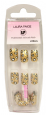 <b>LP Professional Airbrush Gold Leopard Print Nails - &#39;with glue&#39; (24 pieces)</b>